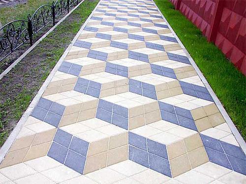 Большой выбор тротуарной плитки