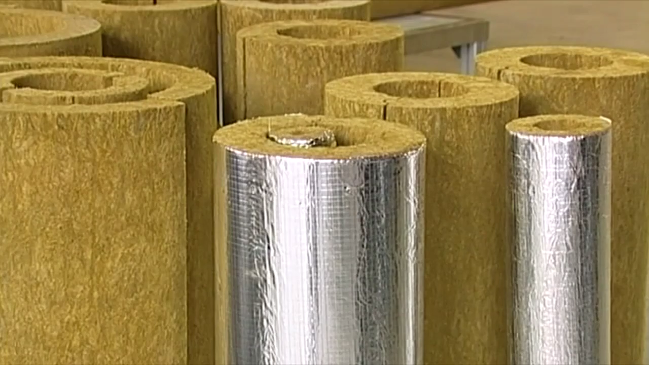 Базальтовые цилиндры теплоизоляции