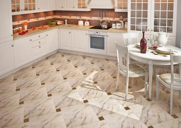 Плитка для пола на кухню и не только